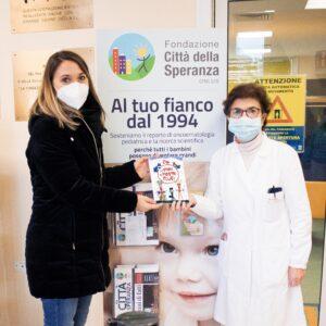 Consegnati 70 libretti alla Città della Speranza per donarli ai bambini ricoverati nel reparto di Oncoematologia Pediatrica dell'Ospedale di Padova.